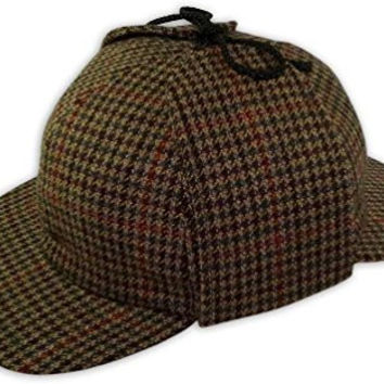 Pasquale Cutarelli Mens Wool Tweed Deerstalker Hat (9167) Brown 57cm