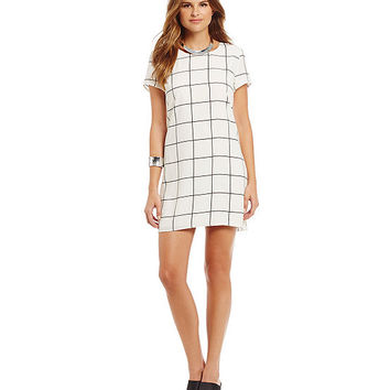 Sugarlips Grid-Print Shift Dress | Dillards