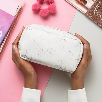 New Look Marble Print Make Up Bag at asos.com