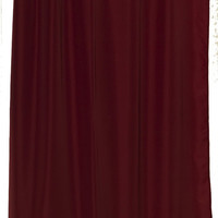 Vinyl Magnetic Shower Curtain Liner W Metal Grommets - Burgundy