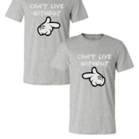 cant live without matching couple sweatshirt - Couple Unisex Tshirt
