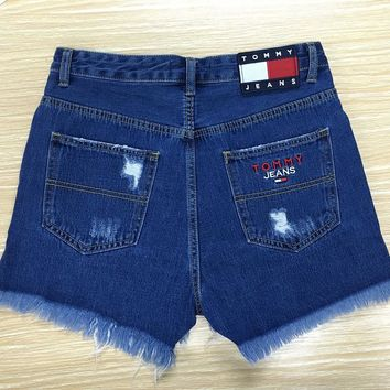 Tommy Jeans High Waist 90's Shorts with Stars & Stripes