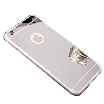 Apple iPhone 7 Plus Case, Reflective Mirror Easy Grip Slim Armor Case for Iphone 7 Plus - Silver