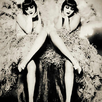 Ziegfeld Follies vintage photo antique photograph twins sisters G 1920s-PRINT