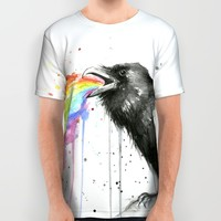 Raven Tastes the Rainbow All Over Print Shirt by Olechka