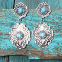 Western Metal Earrings | Elusive Cowgirl