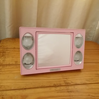 Pink Light Up Mirror -Vintage from the 1960s Mirror Go Lightly 2 Sided Make Up Mirror, Vanity, Cosmetics.