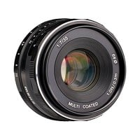 Meike 35mm f/1.7 Manual Focus Fixed Lens for Olympus M43 Digital Cameras ( EM1,M,M10,EP5,EPL3,PL5,PL6,PL7,PEN-7 etc)