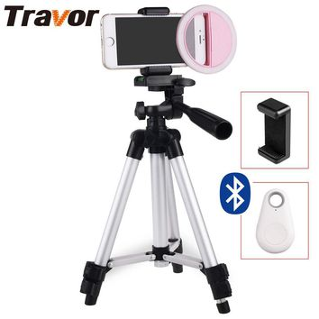 Travor Camera Enhancing Photography Selfie Ring Light for Smartphone +65cm Tripod+Phone holder+Bluetooth remote control