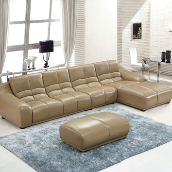 2016 European Style Set Modern Time-limited Sofas For Living Room Beanbag Bean Bag Sectional Sofa Hot Sale Geniune Leather Sofa
