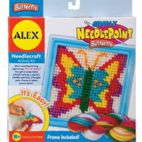 ALEX Toys Craft Simply Needlepoint Butterfly Kit