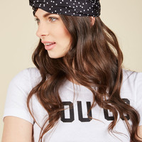 Tie Will Tell Headband in Noir Dots | Mod Retro Vintage Hair Accessories | ModCloth.com