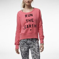"Nike Store. Nike Vintage ""Run The Earth"" Women's Sweater"
