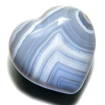 Good Luck Talisman Natural Agate Gemstone Heart