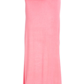 Fold Over Two-Way Maxi Skirt Coral