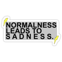 """Normalness Leads to Sadness"" AmazingPhil quote tee"