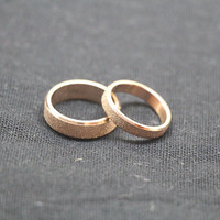 2pcs Frosted Ring,Rose gold rings,Rose gold ring,Wedding Bands Couple Rings, Lovers rings,wedding rings, valentine's gift,Free Engraving