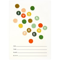 Party Dots Fill-In Invitation