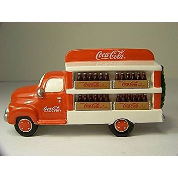 Department 56 Coca Cola Delivery Truck Figurine Snow Village