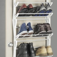 Whitmor 6486-1746-WHT Over-The-Door Shoe Rack,  36-Pair, White