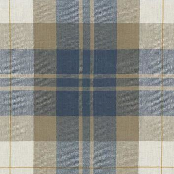Ralph Lauren Fabric LCF65527F Summer Cottage Plaid Vintage Blue