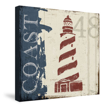 Nautical V Canvas Wall Art