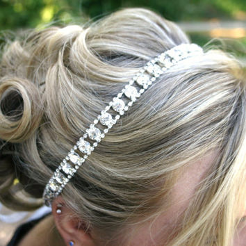 Wedding Rhinestone Hairpiece - Diamond Headpiece - Bridal Tiara - Wedding Headband