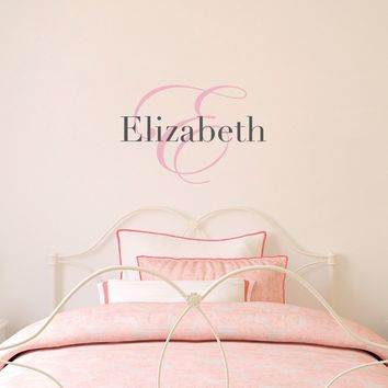 Initial & Name Wall Decal - Girls Name Decal - Initial Wall Sticker - Medium (2)