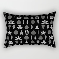 Leaf Shapes and Arrangements Pattern Greyscale by kathrinmay
