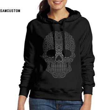 Ladies Hoodies No pockets Dark Sugar Skull 3D print Fashion hoodie