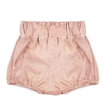 EMERSON AND FRIENDS ROSE LINEN BABY BLOOMERS