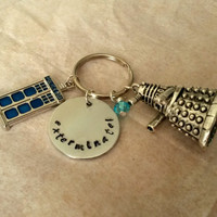 Doctor Who keychain keyring Handstamped with Dalek