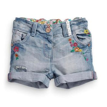 Hot Shorts 2017 Euro USA Fashion Baby girl Denim  Summer kids Jeans  Kids Short Pants for 1-6 years child DG1703030084AT_43_3