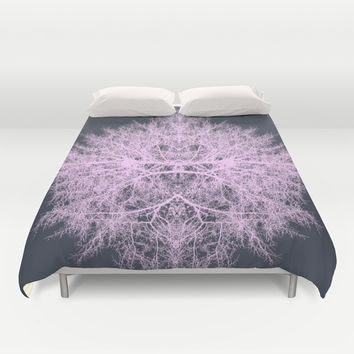 Pink psychedelic fairy forest creature Duvet Cover by Natalia Bykova
