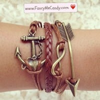 Brown Anchor Infinity Arrow