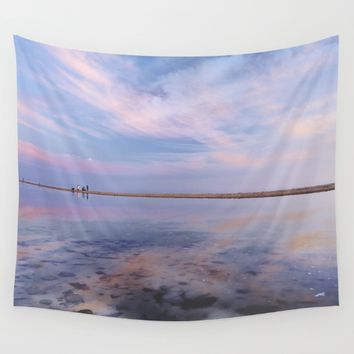 """Heaven walk"". Tarifa beach Wall Tapestry by Guido Montañés"