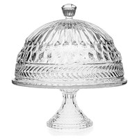 Crystal Symphony Cake Plate w/ Dome, Cake Stands & Tiered Trays
