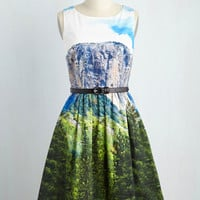 Festive Frondescence Dress in Alpine | Mod Retro Vintage Dresses | ModCloth.com