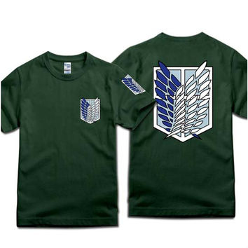 Fashion Attack On Titan Clothing Cosplay T-shirt Tee More Colors XS - 2XL