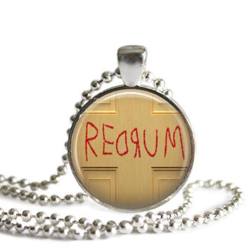 The Shining Redrum Silver Plated Picture Pendant Necklace