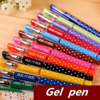 12 pcs/Lot Candy Dot Gel pen 12 color Kawaii stationary Cute pens for writing Caneta Office supplies material school (Color: Multicolor)