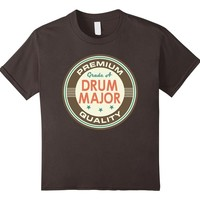 Drum Major Marching Band Music Tee Vintage Logo Tshirt