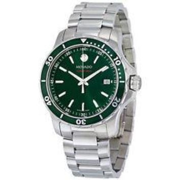 NEW Movado Series 800 Green Dial Stainless Steel 2600136 Mens Swiss Watch