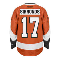 Wayne Simmonds Philadelphia Flyers Reebok Premier Replica Home NHL Hockey Jersey