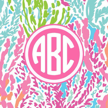 Lilly Pulitzer Monogram Wallpaper - 6 PRINTS AVAILABLE
