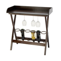 Wine Cabinet - Wood Metal Wine Tray Table