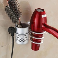 Wall Mounted Hair Dryer Drier Comb Holder Rack Stand Set Storage Organizer New Excellent Quality Popular New Brand New