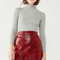 Cooperative Cindy Ribbed Mock-Neck Sweater   Urban Outfitters