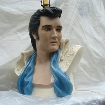 Iconic Elvis Lamp Life Size Bust Collectible Elvis Presley Memorabilia The  King Of Rock And Roll