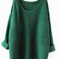 Green Fashion Cozy Casual Sweater for Women
